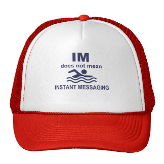 Instant Messaging for Swimmers Mesh Hat