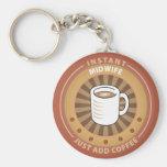 Instant Midwife Basic Round Button Keychain