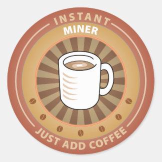 Instant Miner Classic Round Sticker