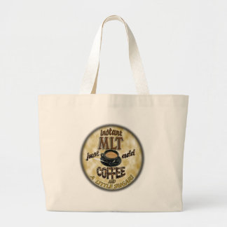INSTANT MLT - ADD COFFEE - MEDICAL LABORATORY TECH TOTE BAGS