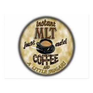INSTANT MLT - ADD COFFEE - MEDICAL LABORATORY TECH POSTCARD