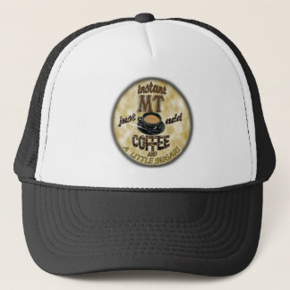 INSTANT MT - ADD COFFEE - MEDICAL TECHNOLOGIST TRUCKER HAT
