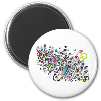 Instant_Music Fridge Magnet