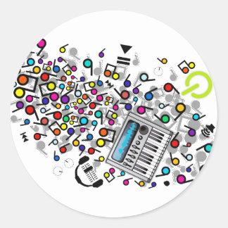 Instant_Music Classic Round Sticker