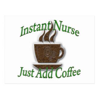 Instant Nurse Postcard