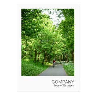 Instant Photo 021 - Cycle Way Large Business Cards (Pack Of 100)