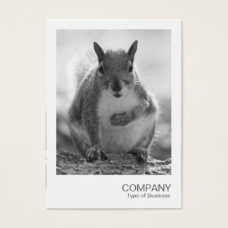 Instant Photo 045 - Grey Squirrel BW Business Card