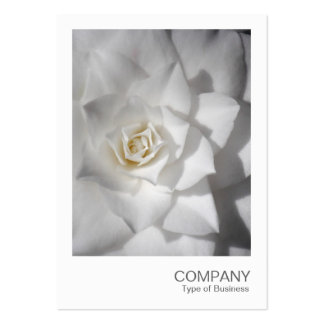 Instant Photo 088 - White Camellia Large Business Cards (Pack Of 100)