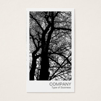 Instant Photo - High Contrast Tree in Winter Business Card