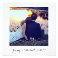 Instant Photo Look Wedding Photo Thank You Card