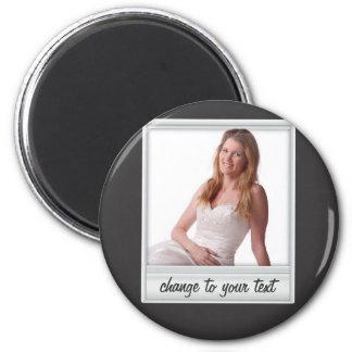 instant photo - photoframe - on black magnet
