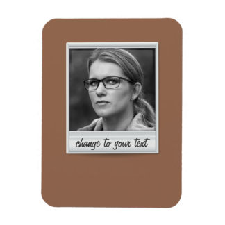 instant photo - photoframe - on brown magnet