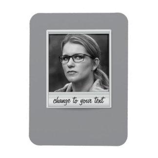instant photo - photoframe - on grey magnet