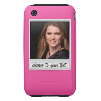 instant photo - photoframe - on hot pink iPhone 3 tough cover