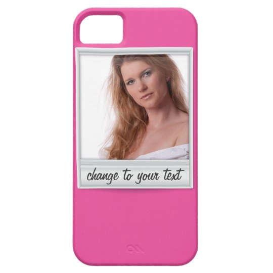 instant photo - photoframe - on hot pink iPhone SE/5/5s case