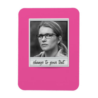 instant photo - photoframe - on hot pink magnet