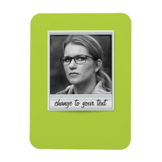 instant photo - photoframe - on lime green magnet