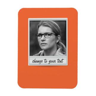 instant photo - photoframe - on orange magnet