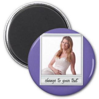 instant photo - photoframe - on purple magnet