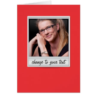 instant photo - photoframe - on red card