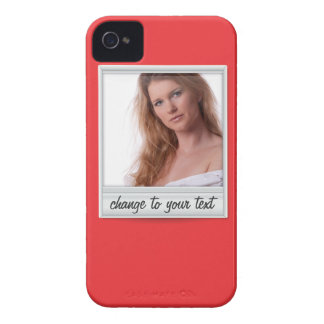 instant photo - photoframe - on red iPhone 4 cover
