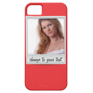 instant photo - photoframe - on red iPhone SE/5/5s case