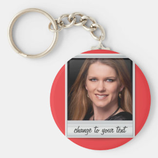 instant photo - photoframe - on red keychain