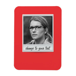 instant photo - photoframe - on red magnet