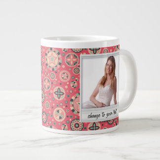 Instant photo - photoframe with pattern 20 oz large ceramic coffee mug