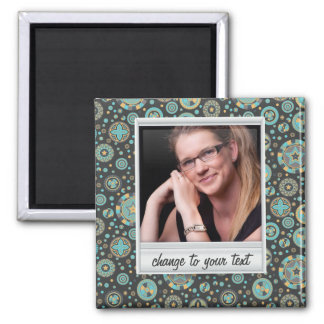 Instant photo - photoframe with pattern 2 inch square magnet