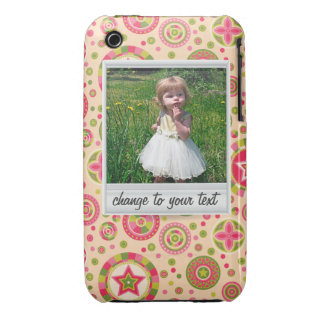 Instant photo - photoframe with pattern iPhone 3 cover