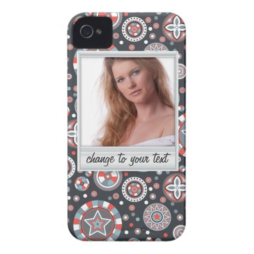 Instant photo - photoframe with pattern iPhone 4 Case-Mate case