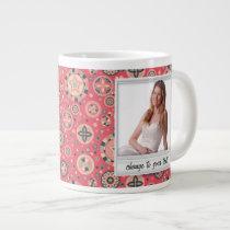 Instant photo - photoframe with pattern large coffee mug