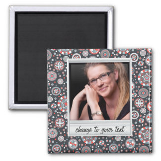 Instant photo - photoframe with pattern magnet