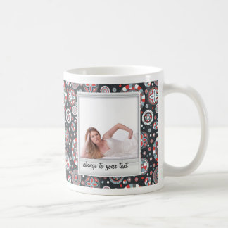 Instant photo - photoframe with pattern coffee mugs