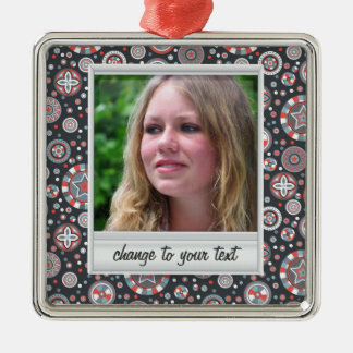 Instant photo - photoframe with pattern christmas tree ornaments