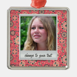 Instant photo - photoframe with pattern ornament