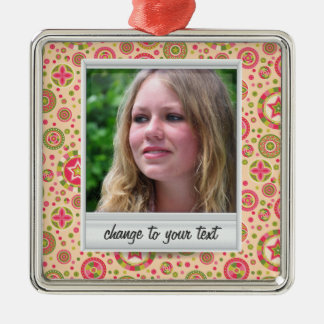 Instant photo - photoframe with pattern christmas ornament