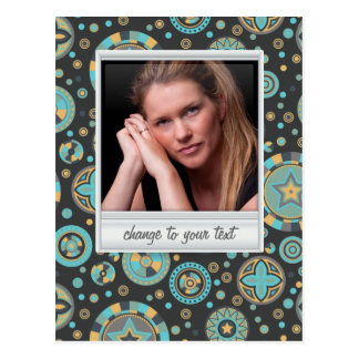 Instant photo - photoframe with pattern postcard