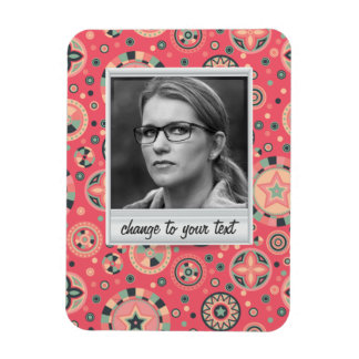 Instant photo - photoframe with pattern rectangular photo magnet