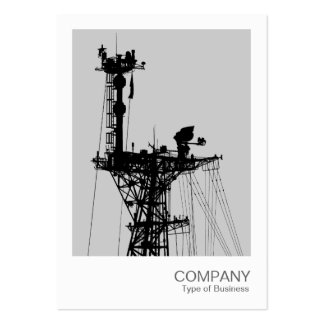 Instant Photo - Warship Radio Mast - Lt Gray Large Business Card