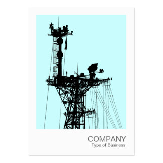 Instant Photo - Warship Radio Mast - Pale Blue Large Business Card