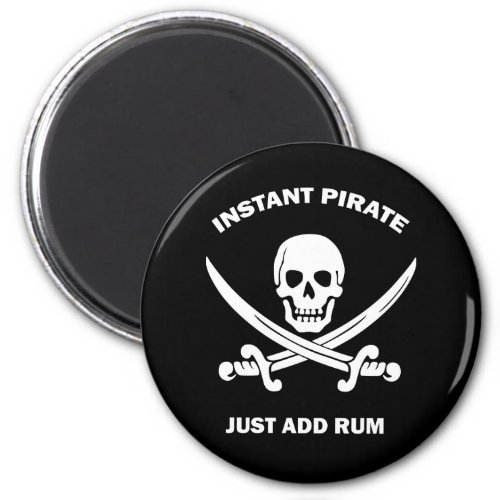 Instant Pirate Add Rum Magnet
