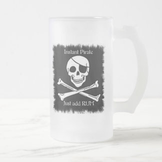 Instant Pirate Frosted Glass Beer Mug