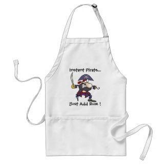 Instant Pirate..., Just Add Rum ! Adult Apron