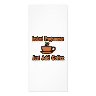 Instant Programmer...Just Add Coffee Rack Card Design
