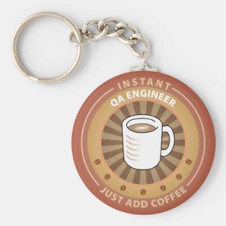 Instant QA Engineer Basic Round Button Keychain