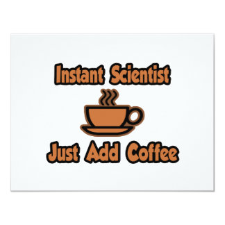 Instant Scientist...Just Add Coffee Personalized Announcement