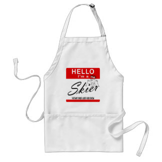 Instant Skier Just Add Snow Adult Apron
