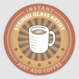 Instant Stained Glass Artist Sticker